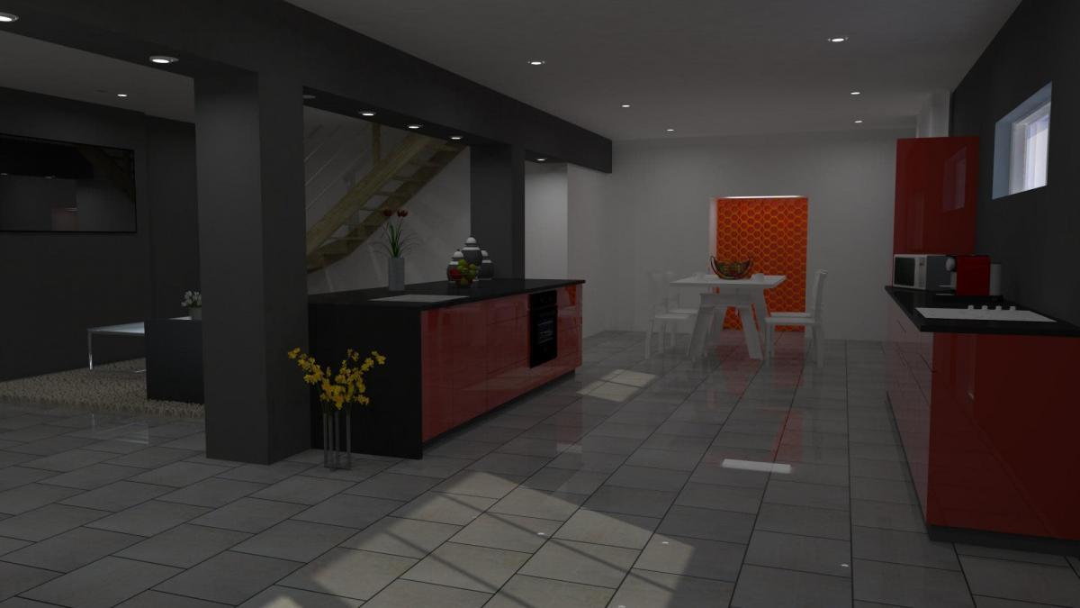 Modelisation 3d interieur garage