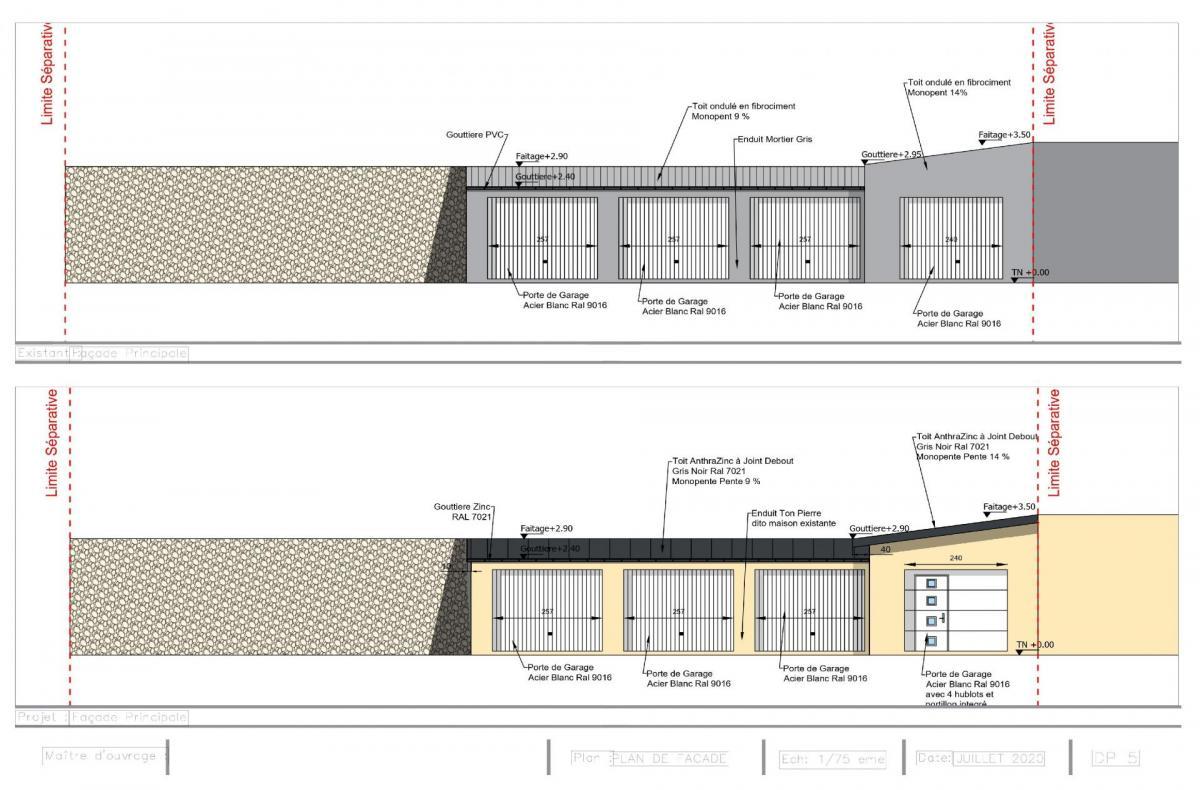 Plans de facade dp5